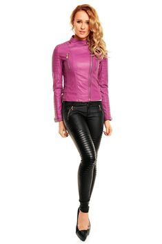 Nice jacket :O Leather Look Jeans, Black Leather Mini Skirt, Long Leather Coat, Leather Trousers, Leather Jackets, Leather Skirt, Sexy Outfits, Fashion Outfits, Look Zara