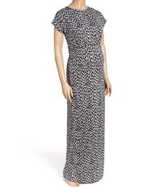 Swathe yourself in this sweeping maxi dress and its forgiving stretch-kissed fabric. Cute Maternity Dresses, Maternity Maxi, Black And White Abstract, Black White, Short Sleeve Dresses, Fabric, Clothes, Fashion, Black And White