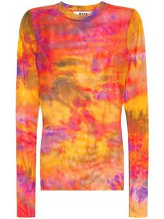 ccfbb844 MSGM tie-dye mesh top $147 - Buy Online - Mobile Friendly, Fast Delivery