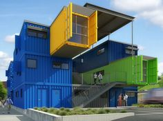 The Box Office, Distill Studio, Truthbox, shipping containers, cargotecture, shipping container office, providence