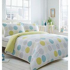 Home Collection Basics - Aqua spotted bedding set