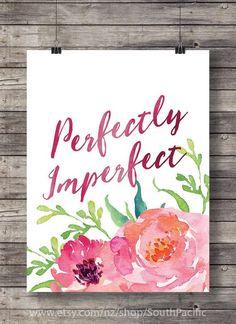 Perfekt unvollkommen Aquarell Typografie von SouthPacific auf Etsy