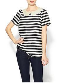Pim + Larkin Pearls & Stripes Top