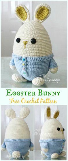 Amigurumi Crochet Eggster Bunny Free Pattern - #Crochet; Amigurumi #Bunny; Toy Softies Free Patterns