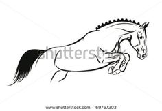 jumping horse tattoo designs | Horse Jump Vector Sketch - 69767203 : Shutterstock