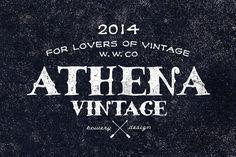 Athena vintage font + bonus by bowery_Studio on Creative Market