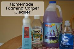 Homemade Foaming Carpet Cleaner for Spots on http://www.moneysavingmadness.com