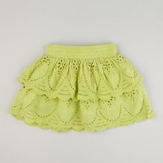 Kids Spring Damask Eyelet Skirt - $13. Trimmed and tiered, this enchanting, eyelet skirt will be on her list of top fashion faves all year-round! With a pleated waistline that adds a little extra flounce, it'll pair perfectly with her favorite tights or leggings for a look that's full of charming flair.