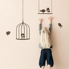 Tweeting Birds Wallsticker, ferm Living