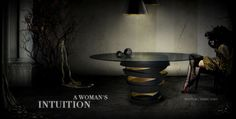 Sculptural Dining Table @koket   http://www.bykoket.com/guilty-pleasures/casegoods/intuition-dining-table.php
