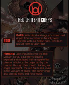 The basic principles/abilities of the Red Lanterns.