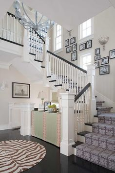 Totally in love with everything in this room!!! I am loving the black and white stairs!!
