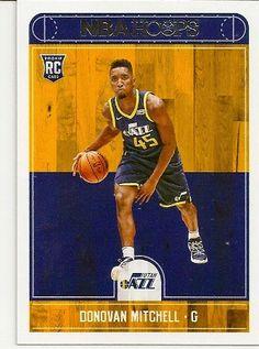 2017-18 NBA Hoops Donovan Mitchell Rookie Card. Utah Jazz.