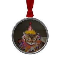 Cute Bengal Cat Clown Christmas Ornament - ornaments on Wanelo story page :)