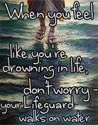 My lifeguard walks on water!