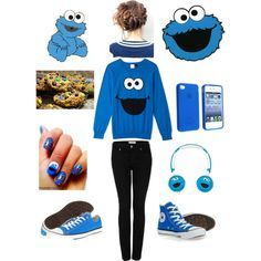 teenage outfits cookie monster - Google Search