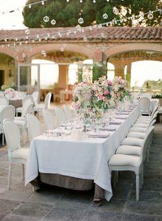 Featured Photographer: Jose Villa; outdoor wedding reception details