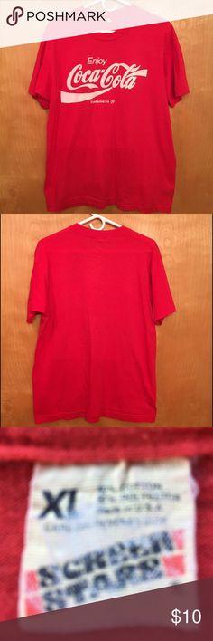 COCA-COLA TEE 🌺..VINTAGE...ENJOY COCA-COLA TEE. Screen Stars Shirts Tees - Short Sleeve