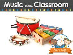 Ideas and activities for using music in your preschool, pre-k, or kindergarten classroom.
