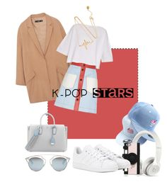 """""""K pop"""" by yeknonom on Polyvore featuring Baimomo, Beats by Dr. Dre, Kate Spade, MANGO, Fendi, Helmut Lang, adidas, MCM, Christian Dior and kpop"""