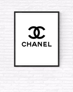 COCO Chanel Printable Chanel Logo Art Beauty by GabrielPrintables