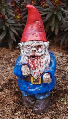 Zombie Gnome  visit the chic n prim cottage store ebay fun online flea market you never know what we have ( type in The chic n prim cottage in search engine)