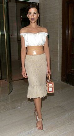 Always loved this outfit - Givenchy spring white top and belt
