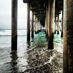 Huntington Beach Pier-Many Summers spent swimming and paddling around this pier.