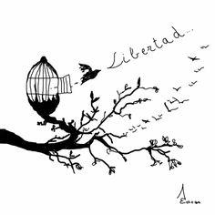 http://acalilecora.blogspot.com.es/2014/02/reto-de-ilustracion-parte-5.html  Necesitamos libertad