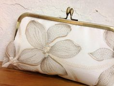Magnolia Kisslock Ivory Bridal Clutch  Wedding by ItsSoClutch, $50.00