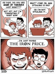 Hilarious Game of Thrones reference