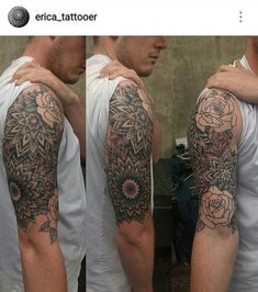 Ideas Of Cool Geometric Tattos Full Arm Tattoos, Dope Tattoos, Back Tattoos, New Tattoos, Tattoos For Guys, Sleeve Tattoos, Tatoos, Quetzalcoatl Tattoo, Tattoos Pinterest