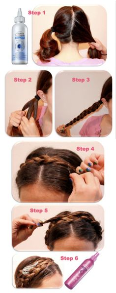 avoninsider:  Beauty School: Milkmaid Braids Step 1:Start with Avon'sAdvance Techniques Damage Repair 3D Rescue Leave In Treatment. It ins...