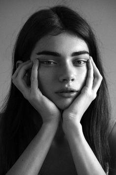 "senyahearts: "" Antonina Vasylchenko in i-D Online: Face Off (2013) Photography by: Piczo """