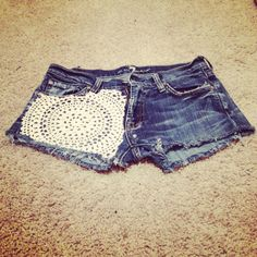 My old jeans I made into shorts and embellished :)GIMME!!!