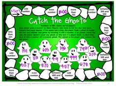 Halloween Math Board Games FREEBIE - NO PREP Games for Halloween!