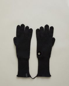 Cashmere knit gloves with signature eyelet detail. Ribbed cuffs Signature WANT Les Essentiels eyelet cashmere Made in Italy Cashmere Gloves, Sock Crafts, Retail Concepts, Knitted Gloves, Winter Looks, Cold Day, Apothecary, Cold Weather, Wool Blend