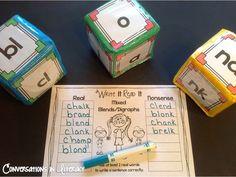 blends and digraphs- roll cubes!  Fun Center!