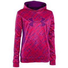 Under Armour Armour Storm Printed Big Logo Hoodie - Girls' Grade School - Training - Clothing - Neo Pulse/Hendrix