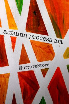 fall process art ideas using tape resist technique - gorgeous process art project for kids A gorgeous tape resist process art project for children of all ages. Process art for autumn, preschool process art.