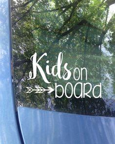Kids on board Window Decal  3127881fecadb