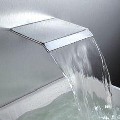 Moda Waterfall Wall Mount Chrome Bathroom Spout