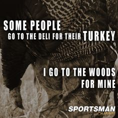 Turkey Hunting.  Hunting for Meat.