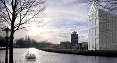 Ein Grachtenhaus aus dem 3D-Drucker: Die Grachtenhäuser in Amsterdam sind weltberühmt. Derzeit entsteht dort ein ganz besonderes