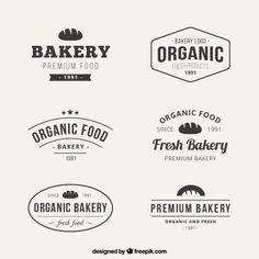 Квартира пекарня логотип коллекции Premium векторы