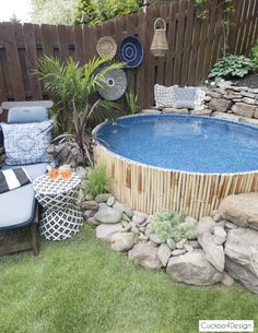 Small Inground Pool, Diy Swimming Pool, Small Pools, Swimming Pool Designs, Stock Pools, Stock Tank Pool, Perth, Clematis, Small Backyard Landscaping