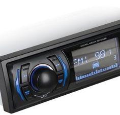 BOSS Audio 612UA - Single-Din, MP3 Compatible, Digital Media AM/FM Receiver, (No CD/DVD player)