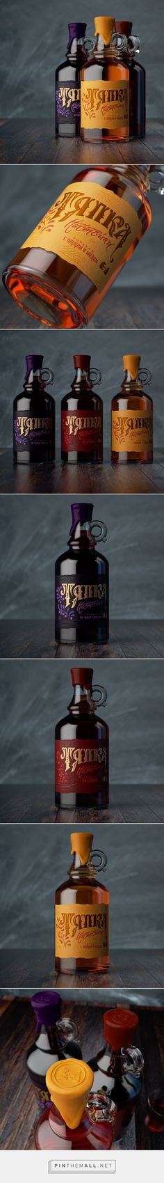 Tyapka liquor packaging design concept by Gizmo Studio - http://www.packagingoftheworld.com/2017/03/tyapka-concept.html