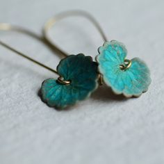 Hey, I found this really awesome Etsy listing at https://www.etsy.com/listing/236815596/green-leaf-earrings-boho-turquoise-lily