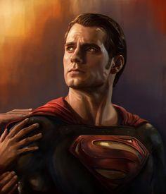 Superman Portrait Study - Superman vs Batman Fan Art on Behance Arte Do Superman, Mundo Superman, Batman Vs Superman, Black Superman, Marvel Comics, Hq Marvel, Dc Comics Art, Superman Henry Cavill, Marvel Comic Character
